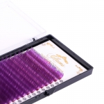 GLAMS Фиолетовые ресницы на ленте микс C - 0,1