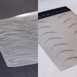 Лист/картон для отрисовки бровей с трафаретами