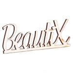 Сувенир - логотип Beautix белый