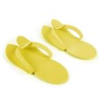 Тапочки косметические желтые