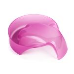 Ванночка для маникюра фигурная розовая
