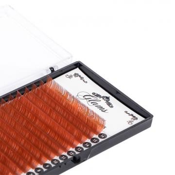 Светло-коричневые ресницы Glams C - 0,15