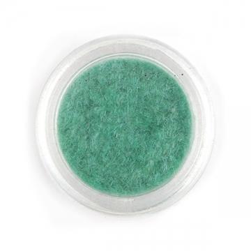 Кашемир для декора ногтей зелено-бирюзовый