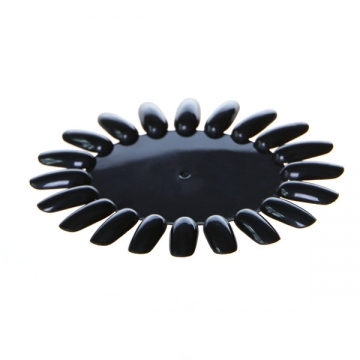 Типсы Ромашка черные
