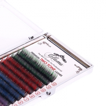 GLAMS Двухцветные ресницы палитра C - 0,15